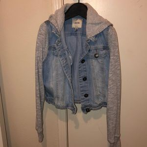 Jean jacket with built in sweater